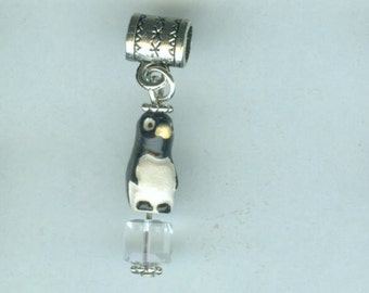 CHILI WILLI PENGUIN Bead Charm for All Name Brand Add a Bead Charm Bracelets