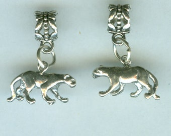 Sterling FLORIDA PANTHER Bead Charm for all Name Brand Add a Bead Bracelets - 3D