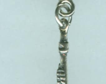 Sterling Silver FLUTE Bead charm for All Name Brand Add a Bead Bracelets- 3D