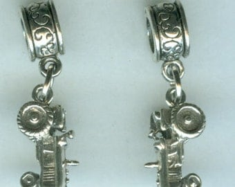 Sterling Silver FARM TRACTOR Bead Charm for All Name Brand Add a Bead Charm Bracelets - Heavy 3D