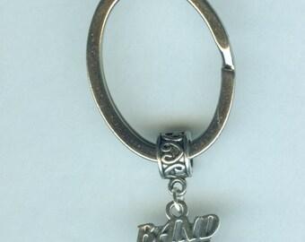 Sterling BAND MOM Key Ring, Key Chain