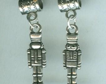 Silver NUTCRACKER Bead Charm for Trollbead, European and Name Brand Add a Bead Bracelets - 3D