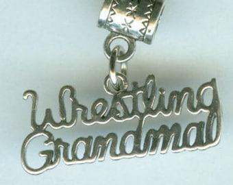 Sterling WRESTLING GRANDMA Bead Charm for all Name Brand Add a Bead Bracelets
