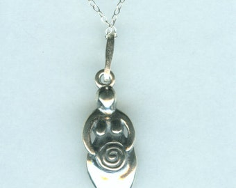 Sterling SPIRAL GODDESS Pendant with Chain