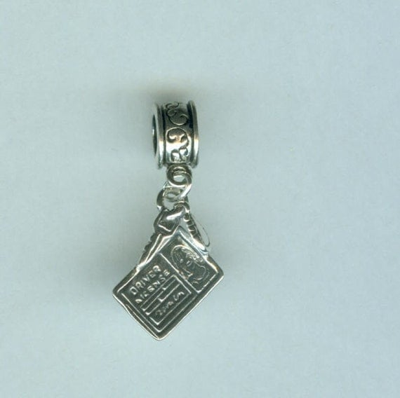 Name Brand Bracelets: Sterling DRIVERS LICENSE Bead Charm For All Name Brand Add