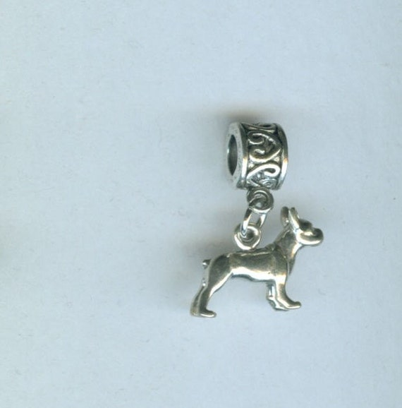 Pandora Jewelry Boston: Items Similar To Sterling BOSTON TERRIER Dog Bead Charm