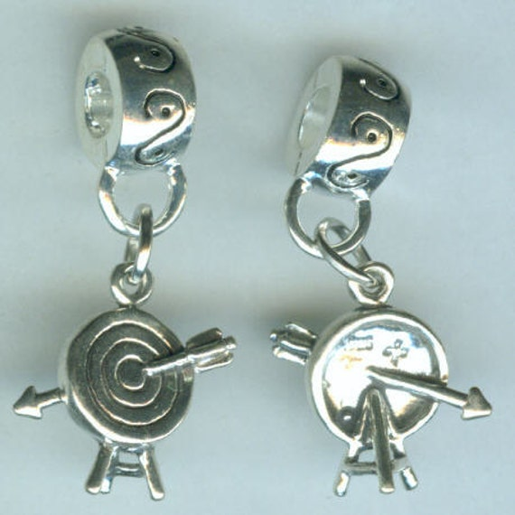 Sterling ARCHERY Bead Charm For All Name Brand Add A Bead