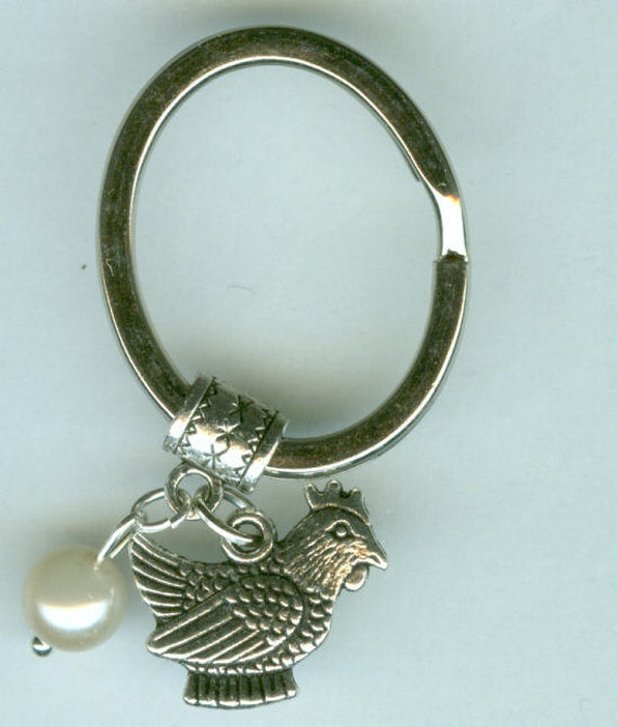 Silver Hen Key Ring Chicken Amp Egg
