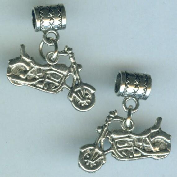 Name Brand Bracelets: Silver MOTORCYCLE Bead Charm For Trollbead By ShymaliLlamas