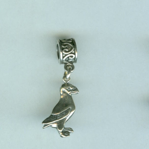 Sterling Standing Puffin Bead Charm For Name Brand Add A Bead