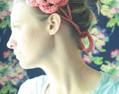 coral blooming headband