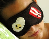 Bacon & Eggs Breakfast sleeping mask:, cute gift idea for morning people