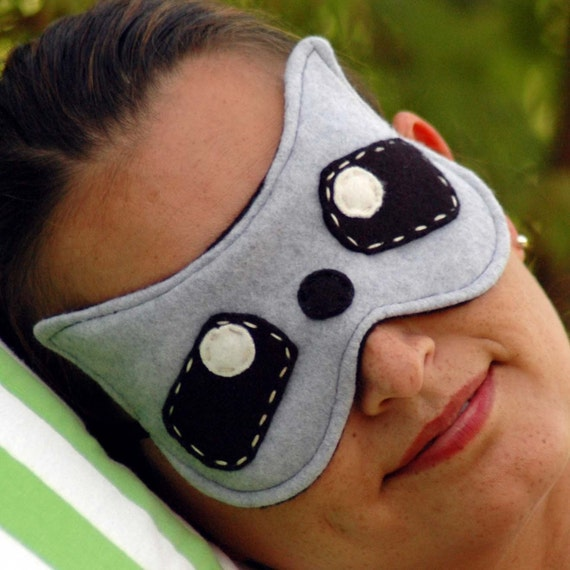 Items similar to Soft Plushy And Cute Raccoon Sleep Mask ... Raccoon Eye Mask