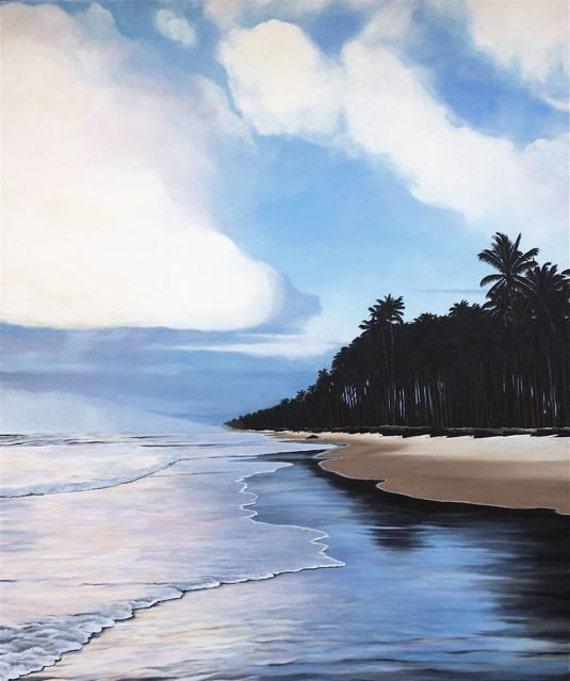 Paradise Found, La Fazenda da Lagoa, Brazil, Original One of a Kind Oil on Canvas, 6 ft. high x 5 ft. wide, Rare Collector's Item