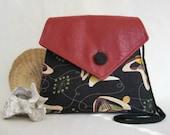 JETSON Handbag //  Atomic Retro Barkcloth //  Mid-Century Design Purse // Day Bag