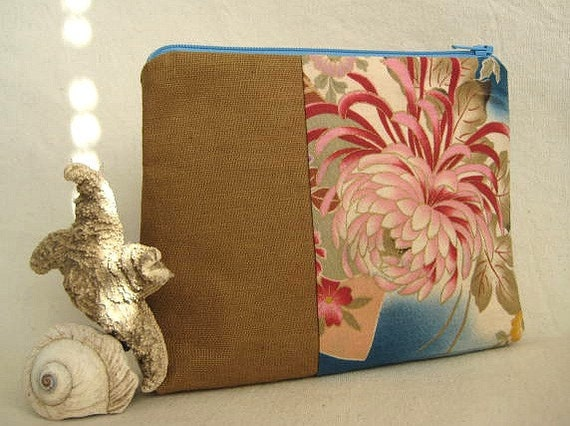 Two-Tone Cosmetic Pouch Asian Inspired