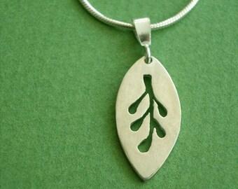 Lithuanian Rue Leaf Ruta Baltic Pendant Necklace