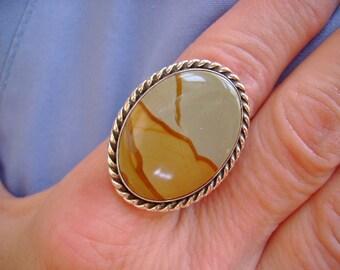 Wild Horse Jasper Ring - Size 8.75
