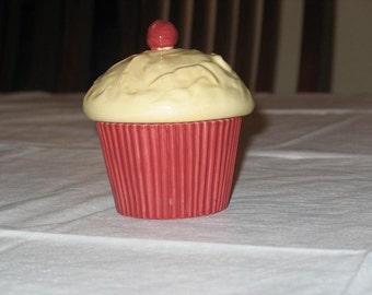 Cupcake Trinket Box Ceramic