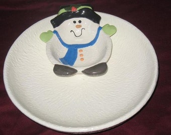 Snowman Chip and Dip Set