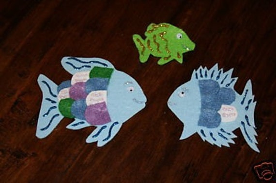 The rainbow fish to the rescue flannel board felt story for Rainbow fish to the rescue