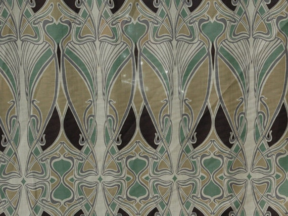 Liberty ianthe reproduction art deco nouveau fabric sewing for Art deco style fabric