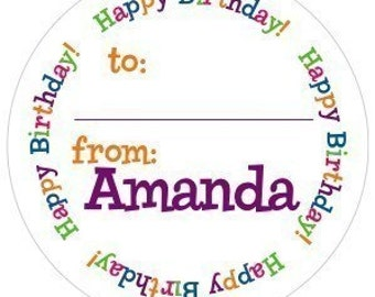 The Happy Birthday Gift Sticker