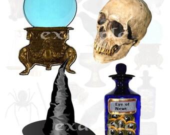 Halloween....Witch's Closet Digital Collage Sheet