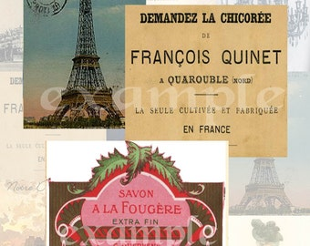 French Digital Collage Sheet 2