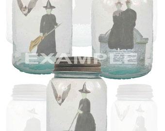 Halloween...Captured Witches Digital Collage Sheet