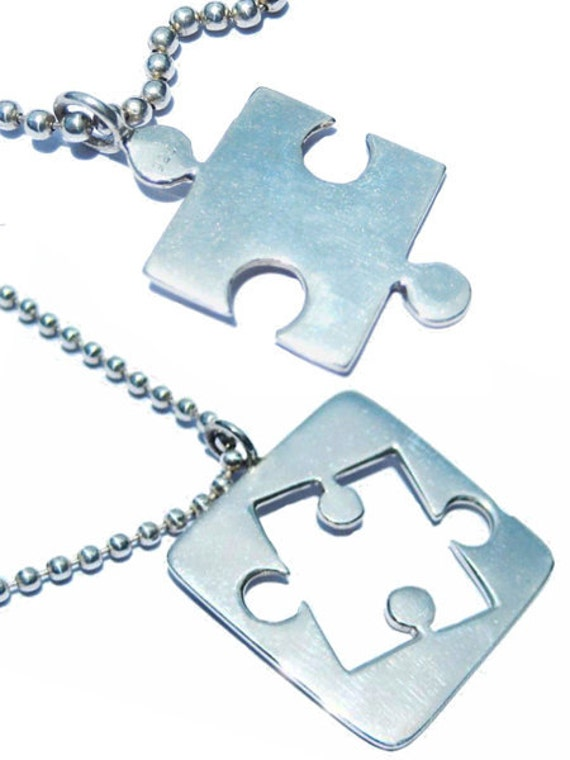 Girls Telephone Boys Sterling Silver 925 Jigsaw Puzzle Necklace Pendant Jewelry