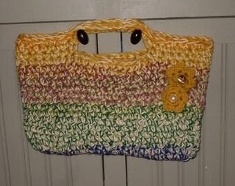 SALE crochet double strand tote