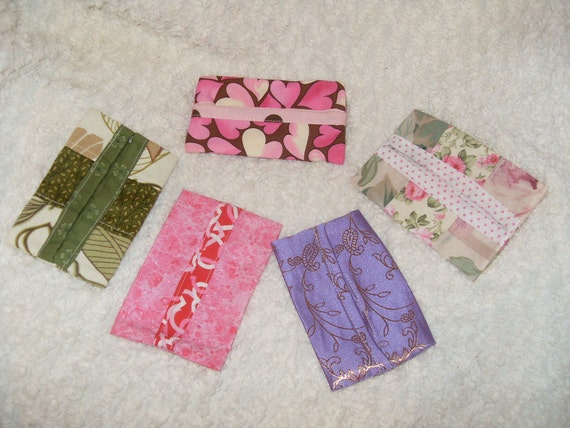 pocket travel purse tissue covers 5 pack stocking stuffers