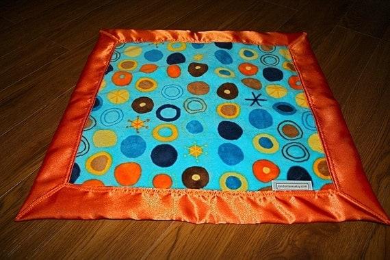 LondonLane Funky Orange, Turquoise, Navy Dot Lovey