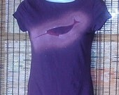 Clearance! NarWHALS ROCK Purple XS women's double layer tee tshirt