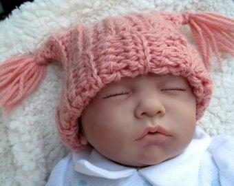 Newborn Baby Girl Hat, Newborn Baby Hats, Crochet Baby Hats, Baby Beanie, Baby Cap, Newborn Hat for Baby Girls, Pink, Infant Baby Girl Hat