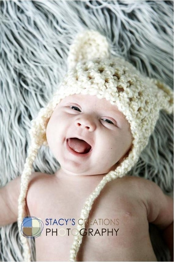 Baby Bear Hat, Crochet Baby Hat, Baby Photo Prop, Baby Coming Home Hat, Baby Boy Hat, Newborn Girl Hat, Infant Hat, Hat for Baby, Ivory