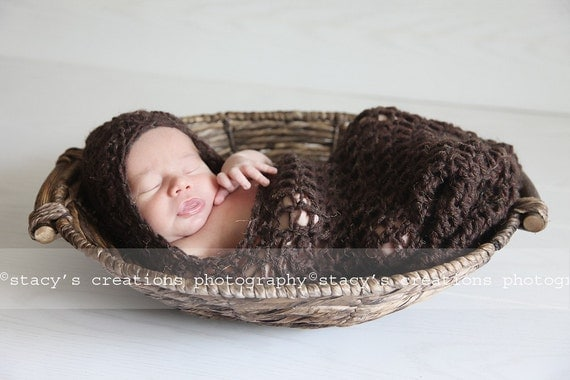 Newborn Cocoon, Baby Cocoon, Baby Cacoon, Newborn Photo Prop, Swaddle Sack, Baby Boy Cocoon, Baby Girl Cocoon, Brown