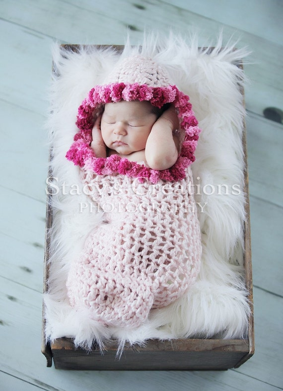 Crochet Cocoon Hooded Cocoon Baby Girl Cocoon Baby Cacoon