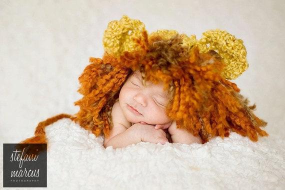 Crochet Baby Hat, Baby Lion Hat, Crochet Lion Hat, Baby Girl Hat, Baby Boy Hat, Newborn Lion Hat, Infant Lion Hat, Baby Animal Hat, Yellow