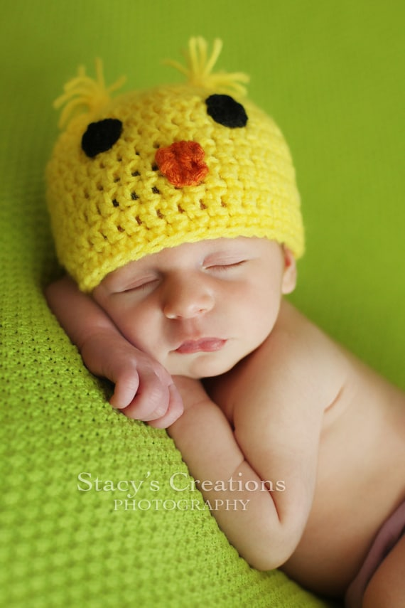 Baby Chick Hat Crochet Baby Hat Baby Chicken Hat Baby
