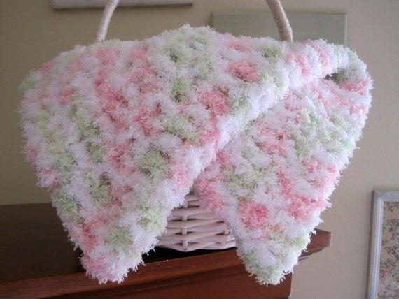 Mini Crochet Baby Blanket Pattern : Baby Girl Blanket Crochet Baby Blanket Baby Prop Blanket