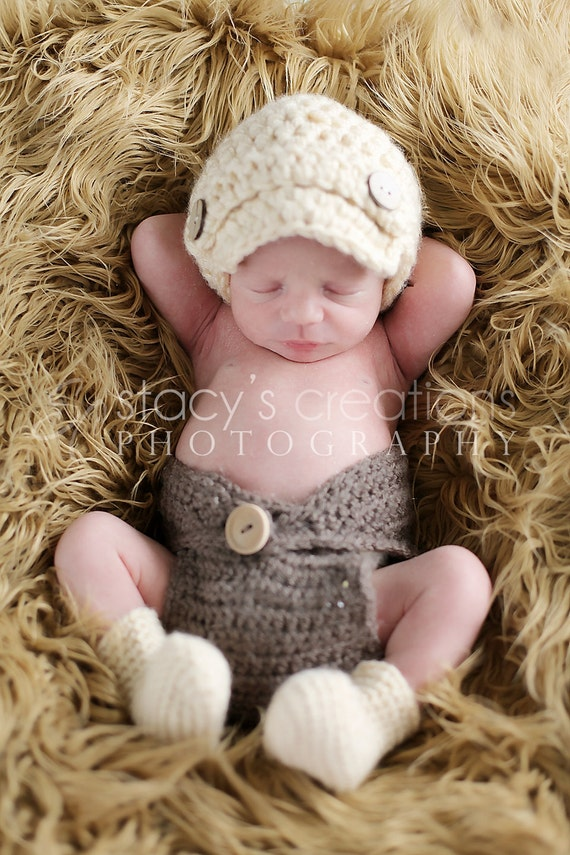 Crochet Baby Newsboy Hat, Crochet Baby Hat, Baby Boy Hat, Baby Girl Booties, Crochet Baby Booties, Newborn Beanie, Infant Cap, Cream