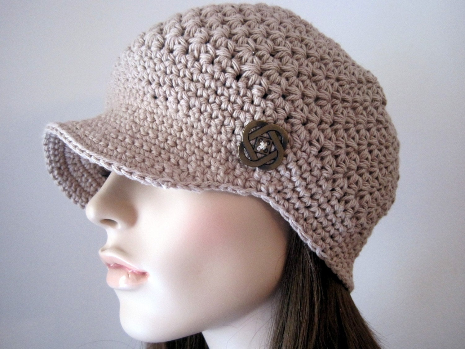 Crocheting A Hat : Womens Accesories Crochet Hat Womens Newsboy Hat by Monarchdancer