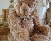 Vintage Artist Mohair Bear Altered Shabby Signed