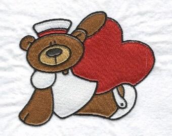 Nurse Bears Machine Embroidery Designs