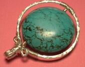 Twirling Turquoise Pendant