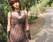 Onyx Lace dress - Golden Brown - only have size Medium left