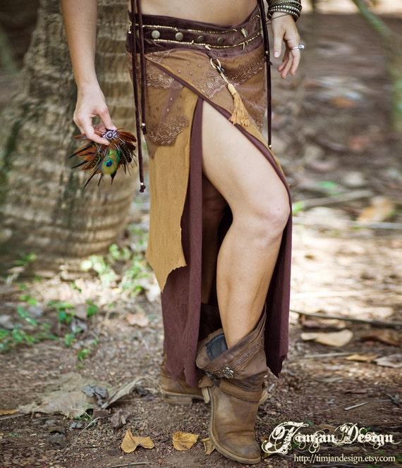 Long Pixie skirt - golden brown M/L only