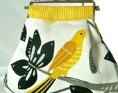 Costal Fauna Yellow Bird Clutch with Chain